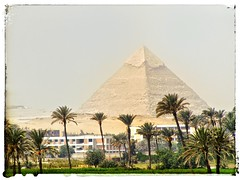 Pyramid at Giza (wilstony1) Tags: egypt2008fuji pyramid giza sunny cairo outdoor photo border