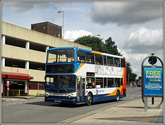 18152, Greyfriars (Jason 87030) Tags: stagecoach dennis trident alx400 horton 3 18152 august 2016 doubledecker mayorhold bus greyfriars northampton town northants northamptonshire sony a6000 alpha ilce flickr tag empty