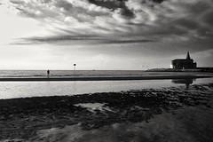 Morning on the shore (Eilis88) Tags: caorle veneto sea shore beach blackwhite summer morning fisherman