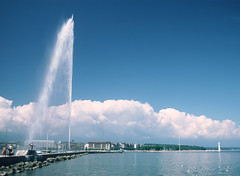 Jet d'eau, Geneva (Mick Bajcar) Tags: jetdeau geneva switzerland kodachrome fountain