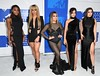 Normandi Kordei, Dinah Jane Hansen, Ally Brooke, Camila Cabello and Lauren Jauregui of Fifth Harmony attend the 2016 MTV Video Music Awards on August 28, 2016 at Madison Square Garden in New York. / AFP / Angela WEISS (Photo credit should read ANGELA WEISS/AFP/Getty Images)