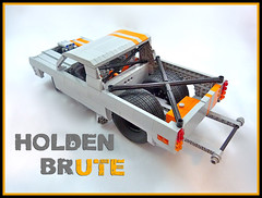 1971 Holden Ute (Lino M) Tags: 1971 71 holden ute brute australia australian pickup car truck lego lino martins drag racer gray orange rally lugnuts saturday morning show shine peter blackert