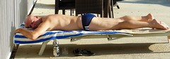 Blue and White Stripes (Blue Rave) Tags: bloke dude guy male mate people back backside pool speedo speedos candid candidphotos candidshots legs thighs sexy feet stud suntanning peaceful athletic relaxing sunbathing blue thecolorblue mizubottle mizulife 2016 bottle