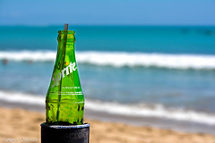 Beaches and Refreshments (amirdakkak1) Tags: beach sprite kuta bali indonesia ocean sun green nature outdoors tan commercial soft drink chill relax life happy moment enjoy relaxing