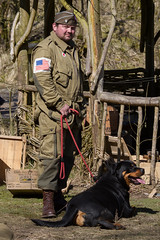 2015-04-06_Crich Easter 40's Weekend_0086 (Andy MacRippe) Tags: england easter unitedkingdom weekend wwii rottweiler reenactment worldwar2 40s easterweekend crich 2015 tramwaymuseum
