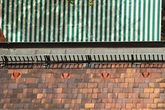 grün-weiß und rot (im_fluss) Tags: roof market lookingdown markt dach auerdult vonoben mariahilfkirche turmführung