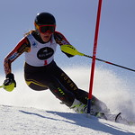 Rae Swette (WMSC) wins final race of the year, slalom GOLD at Mt. Norquay! PHOTO CREDIT: Derek Trussler