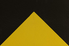 Triangle-2 (Daniel Kulinski) Tags: park abstract black lines car yellow wall triangles warning photography triangle europe paint image symbol daniel creative picture samsung poland minimal line 1977 minimalistic 45mm photograhy nx nx1 kulinski parzniew samsungnx samsungimaging danielkulinski nx45mm pruszkã³w samsungnx45mmf18 samsung45mm samsungnx1 nx45mmf18