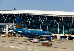 PUdong presence (Roving I) Tags: china travel tourism architecture shanghai aircraft aviation planes airports pudong vietnamairlines