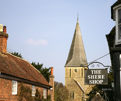 Shere @ 16.05pm (Adam Swaine) Tags: uk england english church rural canon spring village britain villages surrey spire shere 2015 swaine