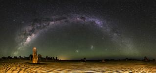 Milky Way Panorama - The Pinnacles Desert, Western Australia