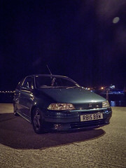 Stranraer Harbour (David Kedens) Tags: night coast scotland punto fiat harbour oldschool adobe fujifilm lightroom stranraer fujifilmfinepix puntosporting mk1punto