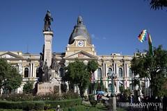 La Paz - Palacio del Congresso Nacional (Rolandito.) Tags: plaza del la paz bolivia congress nacional congresso bolivien palacio kongress bolivie murillo