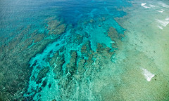 Crazy colours of tropical fringing coral reef, Japan (SamKent22) Tags: blue water coral japan island aqua asia view turquoise kagoshima lagoon aerial tropical paragliding reef fringing amamioshima
