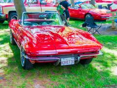 1963 Corvette Sting Ray convertible (kenmojr) Tags: auto red canada classic chevrolet vintage automobile stingray antique convertible atlantic newbrunswick chevy moncton vehicle corvette c2 carshow vette centennialpark maritimes atlanticnationals kenmorris kenmo