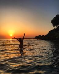 Summertime  (maryattica) Tags: light sunset sea sky beach landscape magic