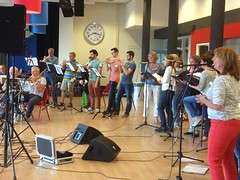 Repetitie met Big Band