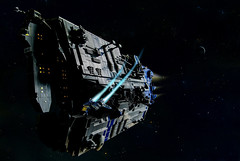 Into the darkness (migalart) Tags: ship lego space cargo hercules spectre migalart
