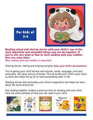 Kids Sampler Info 2 (Dama Chan) Tags: bear summer people cute illustration magazine reading book panda text books read info illustrator client commertial