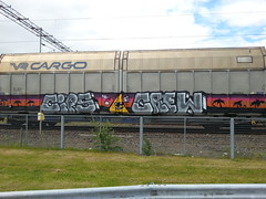 Cargos (Thomas_Chrome) Tags: street streetart art train suomi finland graffiti moving europe object can cargo spray illegal vandalism target nordic freight vr
