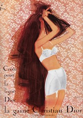 Christian Dior Lingerie 1957 (moogirl2) Tags: lofficiel vintagemagazines vintagefrenchfashion christiandior vintagedior 50s 50sstyle 50sfashions 1957 vintageretro vintageads vintagelingerie