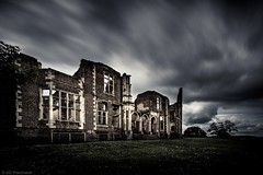 Haunted! (Anthony Plancherel) Tags: uk longexposure greatbritain travel windows england sky house building brick english home grass skyline architecture daisies rural canon outside outdoors construction ruins moody cloudy unitedkingdom britain outdoor decay 17thcentury country hill ruin bedfordshire stormy places structure lodge british hillside drama statelyhome category derelict atmospheric brickwork external cloudysky manorhouse greyclouds countryhouses sigma1020mm travelphotography houghtonhouse architecturephotography cloudblur canon70d