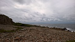 Hovs Hallar (J. Roseen) Tags: sea sky beach water clouds strand skne rocks outdoor horizon himmel shore vatten hav kust hovshallar moln carlzeiss horisont klippor pureview lumia950