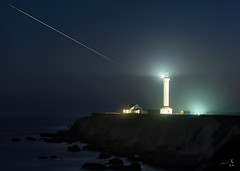 ~~~ Wish now ~~~ (gmacfly) Tags: ocean light sea lighthouse night stars point star pacific outdoor arena trail shooting comet fireball makeawish