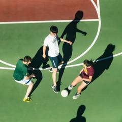 Three to one (satoshikom) Tags: sanjose adobe basketballcourt futsal panasonicdmczs100