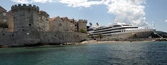 Cruise ship in Korcula (RJAB2012) Tags: cruise port island ship croatia 100v10f korcula turret