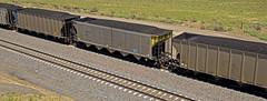 OMAX 611 coal hopper-Henry, Nebraska. (Wheatking2011) Tags: omax 611 coal hopper replacement car derailments omaha public power district nebraska union pacific railroad henry september 2002
