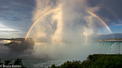 090811 Niagara panorama-02.jpg (Bruce Batten) Tags: photographicstylesandtechniques rainbows plants subjects cloudssky atmosphericphenomena businessresearchtrips panoramas trees locations trips waterfalls rivers canada rocksgeologicalformations occasions buildings niagarafalls ontario ca
