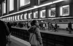 Subway, Paris (Amelien (Fr)) Tags: leica blackandwhite bw film monochrome analog 50mm noiretblanc 11 nb 400 epson mp pushed rodinal fp4 amg argentique 1100 v550 125 2016 pellicule standdevelopment filmisnotdead r09 homescanned msoptical believeinfilm sonnetar capturedonrealfilm