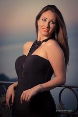 Sunrise in Taormina - with my love, my wife.. (Mario&Dalila) Tags: cto love portrait canon speedlite taormina model wife