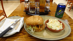 Chicken Burger and Coleslaw, Nando's, Pretoria, South Africa (dannymfoster) Tags: africa southafrica pretoria restaurant nandos food meal dinner burger chickenburger coleslaw