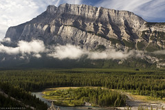 Mt. Rundle, Banff National Park (sdlawsonphoto) Tags: canada banff mountains rockymountains canadianrockies landscape banffnationalpark forest trees clouds canon6d canon1740 sdlawsonphoto summer