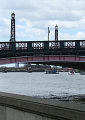 London Bridges, England (Amethinah) Tags: 2013 uk unitedkingdom greatbritain england london lambeth bridge lambethbridge blackfriarsbridge