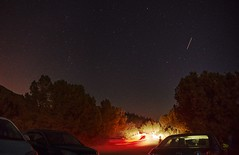 On the lookout for Perseid meteors (PeterThoeny) Tags: losgatos losgatoshills california sanfranciscobay star gazing stargazing perseid perseidmeteor meteor tree car light red white 1xp raw nex6 photomatix selp1650 hdr sanjose siliconvalley outdoor sky clear night qualityhdr lomaprieta mountain longexposure qualityhdrphotography fav100