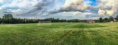 Friday Night Training (unflux) Tags: springgrove pennsylvania unitedstates us soccer field complex spring grove pa town friday night training sky clouds grass colors iphoneography iphone panorama