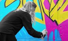 Oldenburg - ( Utkiek / street: Eidechsenstrae ) 53rd picture / Graffiti, street art (tusuwe.groeber) Tags: projekt project lovelycity graffiti germany lowersaxony oldenburg streetartstreetart niedersachsen farbig farben favorit colourful colour sony sonyphotographing nex7 bunt red rot art gebude building gelb grn green yellow eidechsenstrase konzept concept wall wand utkiek