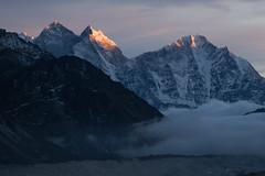 Last light on Kangtega (D A Scott) Tags: everest base camp trek khumbu valley kangtega thamserku sunset mountains nepal himalayas
