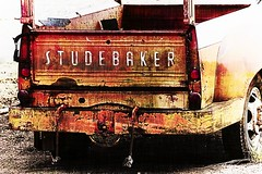 Studebaker (mynameistomo) Tags: vintage old blended oldcars grunge rusty dirty peeling finishedphotos transportation composite damaged scratched truck