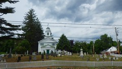 Summer in New England - IMGP5420 (catchesthelight) Tags: centralharbornh summer newengland charm historicchurch cemetery picketfence changeableskies roadside travel