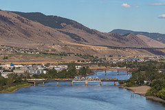 Welcome to Kamloops (elevation-media) Tags: rocky mountaineer rockymountaineer thompsonriver kamloops bc britishcolumbia passengertrain