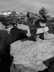 Inuksuk Cairn (Paul T. Marsh/PositivePaul) Tags: paulmarshphotography paultmarsh leicad3 lightroom5 nature mountains vacation britishcolumbia blackwhite wwwpaulmphotographycom leica monochrome leica1450mmf28 canada leicadigilux3 2016 whistler