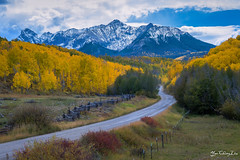 The colors of Colorado (FollowingNature (Yao Liu)) Tags: followingnature colorado fallcolors colorful yellow snow road curve dallasdivide coloradofallcolors coloradofallfoliage nikonfallco