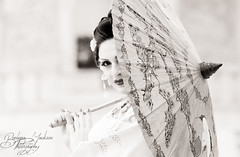 BEEJ9735-Edit (barbara.jackson55) Tags: portrait blackandwhite monotone parasol geisha kimono canon5d digitalcameraclub canon135mmf2 japaneseshoot barbarajacksonphotography