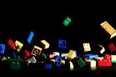 Colored lego (Stefano Armaroli) Tags: music stilllife up happy earthquake lego musica su salto highspeed terremoto felicit darkbackground tremare starmaro stefanoarmaroli coloredlegojump