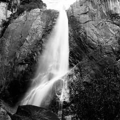 Yosemite lower water falls (-Alberto_) Tags: longexposure blackandwhite 6x6 monochrome mediumformat 120film waterfalls yosemite carlzeiss hasselblad500cm kodakd76 kodak100tmax
