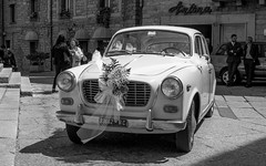 Old Lancia Wedding Car in Tempio, Sardinia (inspiring!) Tags: wedding blackandwhite photography sardinia niceshot photographer photos inspiring lancia musictomyeyes tempio weddingcar polestar smeralda beautifulshot superphotographer royalgroup flickrhearts youvegottalent flickraward flickridol flickrestrellas thebestshot flickrstarsgroup artofimages angelawards contactaward bestpeopleschoice poppyawards impeialimages fabulousplanetevo